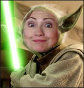 Hillary Clinton as Yoda