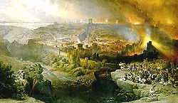 The Siege and Destruction of Jerusalem by the Romans Under the Command of Titus, A.D. 70, Oil on canvas, 1850.