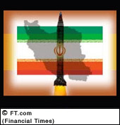 iran flag with missile