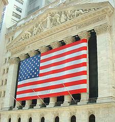 Wall Street facade.