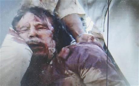 "The ""human monster"" -- Gaddafi."