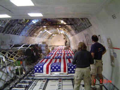US dead returning home.