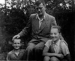 Dimitri Shostakovich in 1949 with son Maxime (left) and daughter Gallina (right).