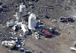 West, Texas, wreckage the day after the blast.