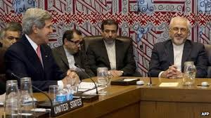 Kerry with Iranian diplomats earlier this year.