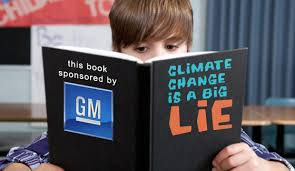 "General Motors making a ""fossil"" out of young minds about Climate Change."