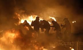 UkrainedemonstratorsInFire