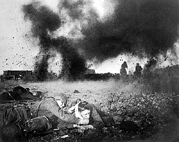 The Battle of Moscow, winter 1941-42. The greatest battle in history. 7.5 million engaged, 2.5 million casualties.