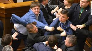 Just another day in the Kiev parliament.