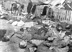 Poles massacred by Ukrainian fascists in Volhynia, 1943.