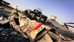 Iraqi Army uniforms cast off. Vehicles abandoned.