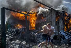 Donetsk civilians fired on indiscriminantly.