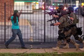 Ferguson1BlackGuyPoliceplatonpointingguns
