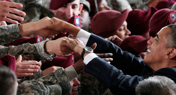 President Obama at Ft. Bragg, December 2011.