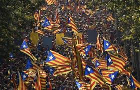 Catalonian celebrations for independence. A referendum comes November 2014, but Madrid will not acknowledge it.