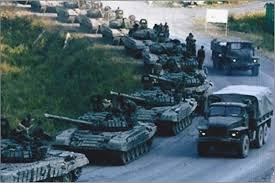 "The picture of these Russian tanks was taken in August 2008 in South Ossetia during the Georgian War--Not in Ukraine, Senator ""Einstein."""