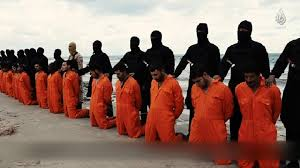 Egyptian Coptic Christian laborers captured and beheaded by ISIS affiliated jihadists in Libya.