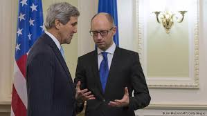 Yatsenyuk with Kerry.