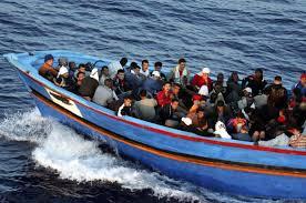 LibyanRefugeesBoatProw