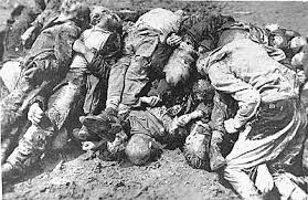 Russian dead on the Eastern Front. Nine million Soviet soldiers and 18 million civilians killed by the Nazis.