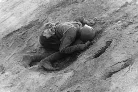 Dead Russian soldier in the early hours of the Nazi attack on 22 June 1941.
