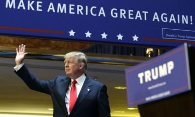 DonaldTrumpAnnounceWaving