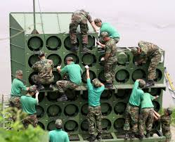 The new South Korean loud speakers, the target of North Korean ire and artillery shells.
