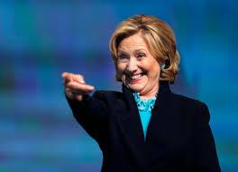 HillaryClintonSmilePointing