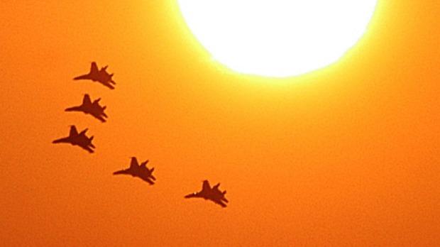 RussianAirforceSyria-OrangeSkySun