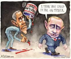 Putin-ObamaRedLinePaintCartoon