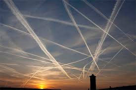 One of the final Hopi Warnings: the white man will criss-cross the sky with cobwebs. These are the contrails of the white man's jets.