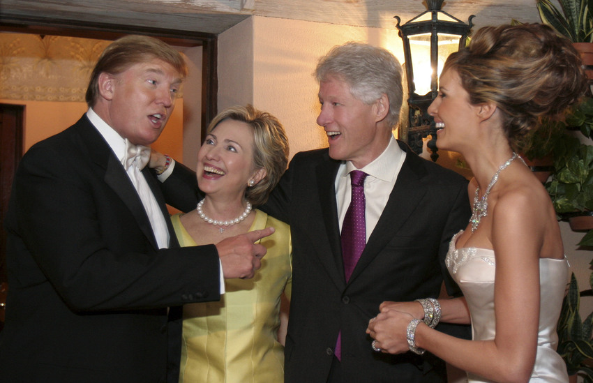 TrumpWeddingwithClintons