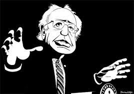 BernieSandersBlkAndWhtCartoon