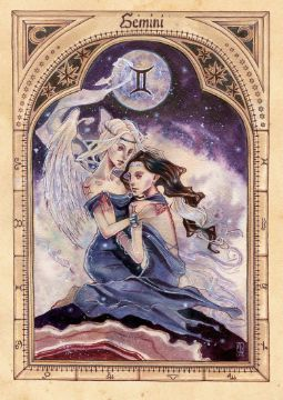 Gemini symbolic twins as the good and bad angels of our psyche.