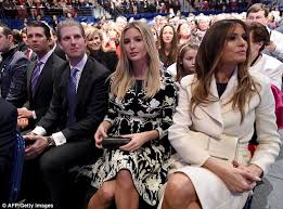 Look at all the women behind the first row seats filled by Trump's family. All Trump followers are men drunk on whiskey???