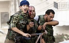SyriaAleppo-3JihadisRunningWounded