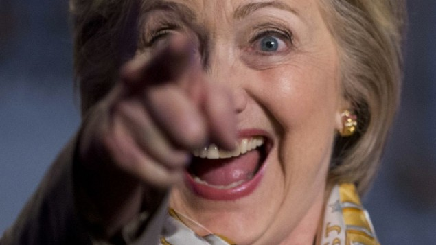 HillaryClintonPointingBrightEyedSmile
