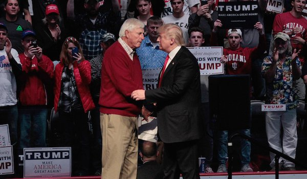 Trump endorsed by Indiana basketball coach and legend, Bobby Knight.