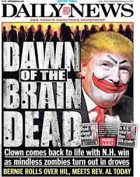 DailyNewsTrumpClownZombies