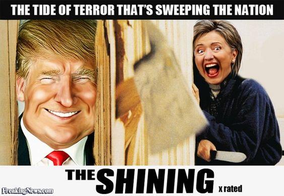 TrumpTheShiningHillary