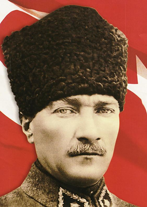 AtaturkPortraitWflagbkground