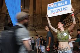 DNCSandersProtest-BernieForSale