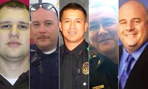 Black lives and White lives matter. These five Dallas policemen did not deserve to be made examples of a handful of bad cops killing innocent black men.