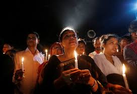 All night vigil in Dhaka for the hostages.