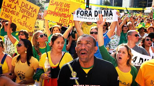 A pro Rousseff demonstration.