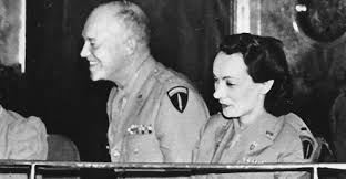 General and future president Eisenhower with his mistress Kay Somersby.