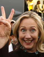 youngerhillaryclintongivingvictorysign
