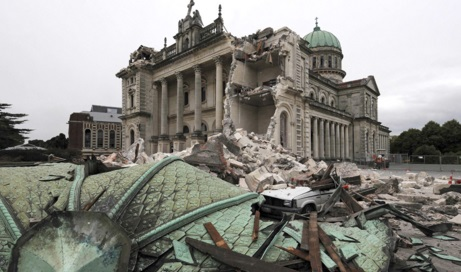 The devastation of Christchurch in February 2010.