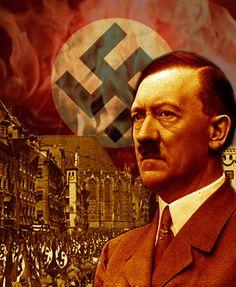 HitlerColorSwastikaNurnbergflames