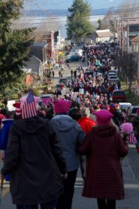 Over 1,000 people marched in my little village of Langley, WA for the Womens March on Washington.
